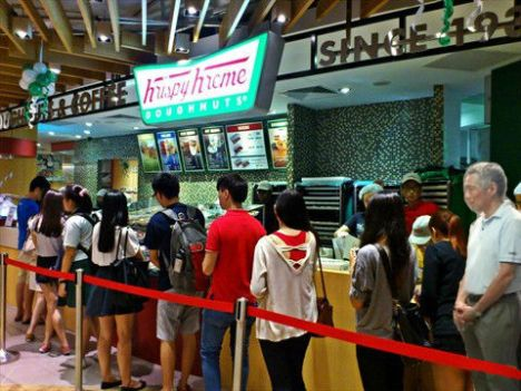 PM Lee at Krispy Kreme
